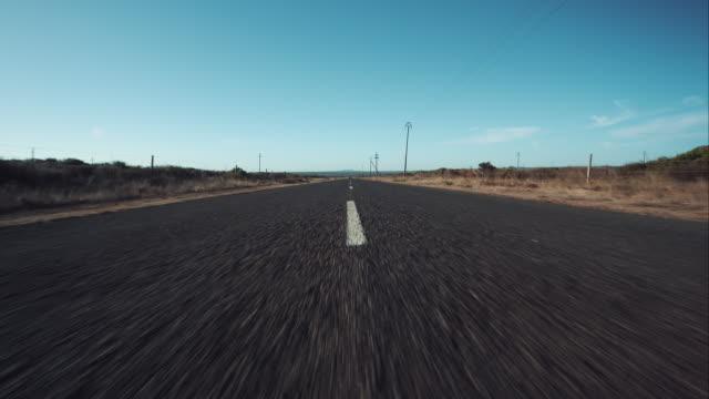 pov scatto di un street - motociclista video stock e b–roll