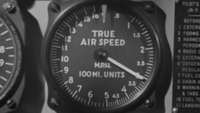vídeos y material grabado en eventos de stock de cu shot of airplane speedometer - dial