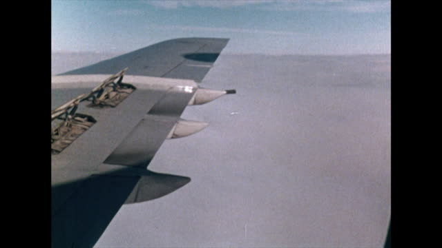 shot of airplane wing descending through cloud; 1972 - aircraft wing stock videos & royalty-free footage