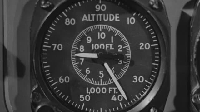 vídeos y material grabado en eventos de stock de cu shot of altimeter indicator as it climbs - dial