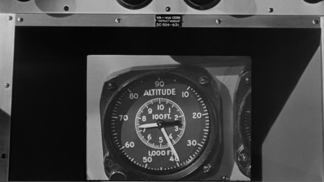 CU Shot of altitude gauge