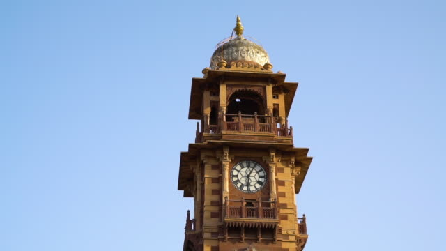 a shot of an indian clock tower - clock tower stock videos & royalty-free footage