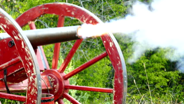 shot of an old gun from the times of the us civil war - cannon stock videos & royalty-free footage