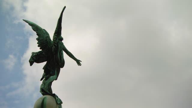 MS Shot of Angel statue / Vienna, Austria