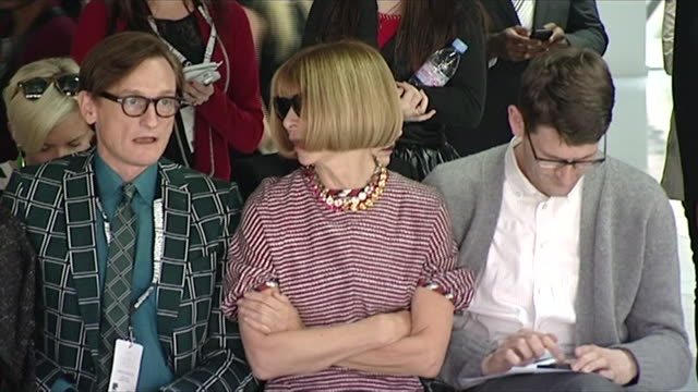 Shot of Anna Wintour at a fashion show during London Fashion Week