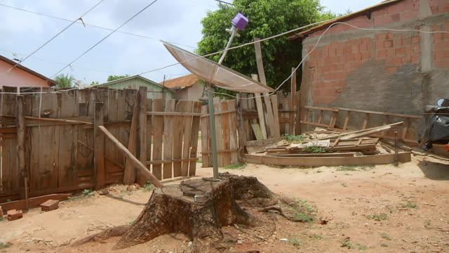 MS Shot of antenna / Serra Pelada, Para, Brazil