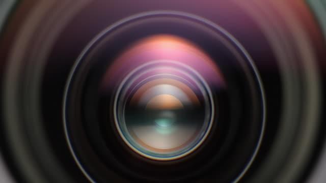 vidéos et rushes de ecu shot of aperture of photo lens opens and closes during shooting / germany - ouverture du diaphragme