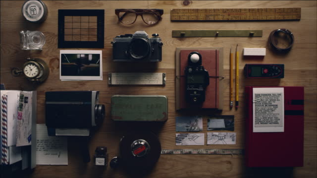 shot of arranging work tool of film making - tape measure stock videos and b-roll footage