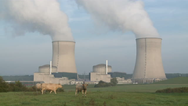 ms shot of atomic power plant / cattenom, lorraine, france - lorraine stock videos & royalty-free footage