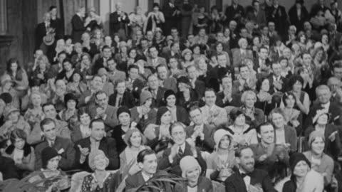 ms shot of audience clapping - applådera bildbanksvideor och videomaterial från bakom kulisserna