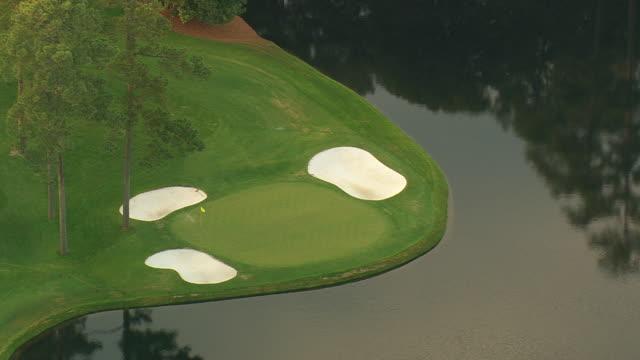 CU AERIAL Shot of Augusta national golf course / Georgia, United States