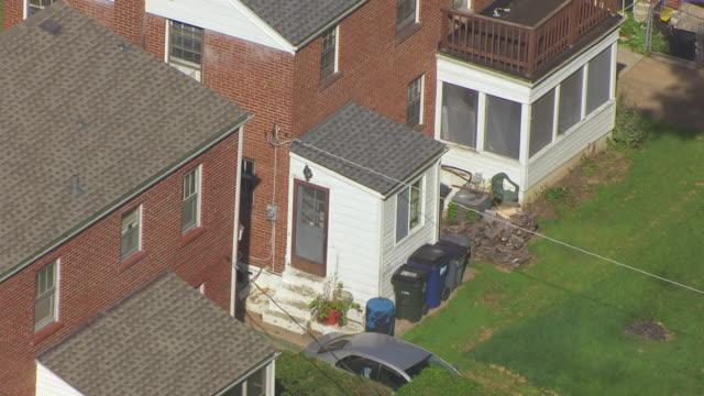 ms aerial shot of back of roland does home / st louis, missouri, united states - exorcism stock videos & royalty-free footage