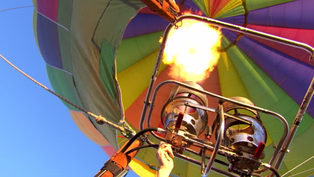 MS LA Shot of Balloon engines firing / Coolgardie and Kalgoorlie, Western Australia, Australia