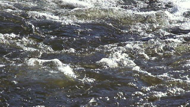 ms slo mo shot of barrage on sarre river /  sarrebourg lorraine, france - lorraine stock-videos und b-roll-filmmaterial