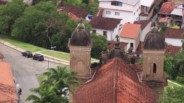 cu aerial shot of basilica of st peter of clerics / minas gerais, brazil - minas stock videos and b-roll footage