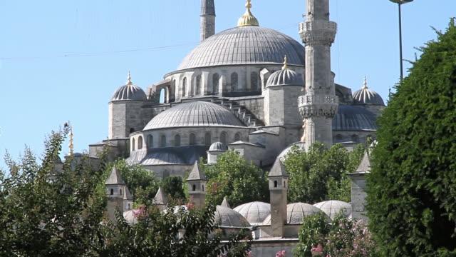 vidéos et rushes de ms td shot of basilique sainte-sophie / istanbul, turkey - religion