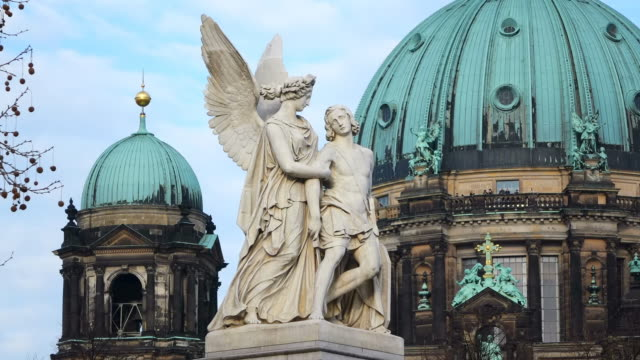 cu shot of berliner dom (cathedral) / berlin, germany - dome stock videos & royalty-free footage