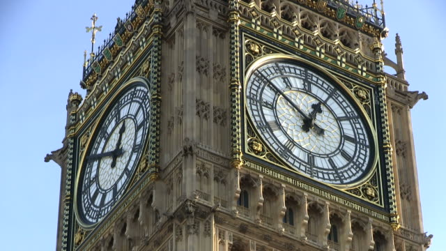 cu shot of big ben / london, great britain   - clock tower stock videos & royalty-free footage