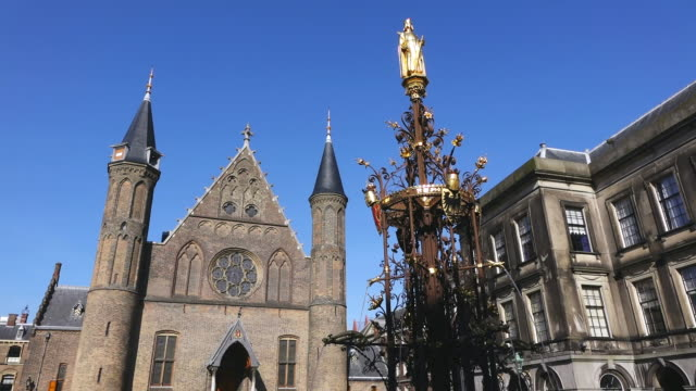 ws shot of binnenhof, political centre / den haag, south holland, netherlands - binnenhof stock videos and b-roll footage
