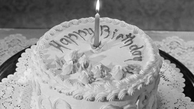 cu shot of birthday cake - birthday cake stock videos & royalty-free footage