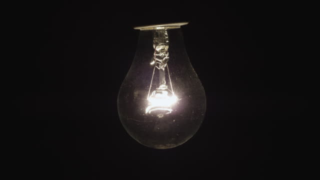 Shot of blinking Light bulb