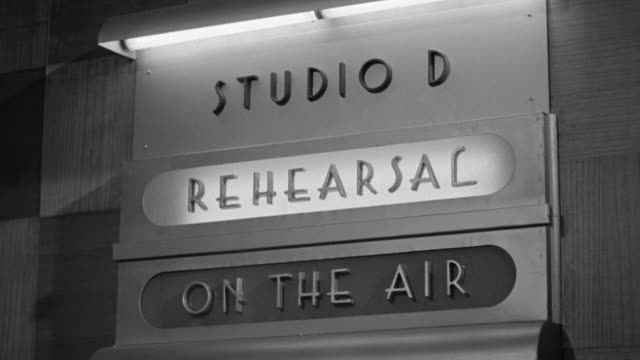 cu shot of board studio d rehearsal on air - ラジオ放送点の映像素材/bロール
