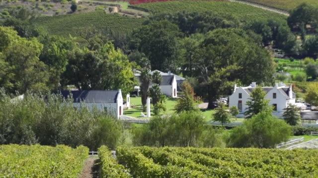 vídeos y material grabado en eventos de stock de ws zi shot of boschendal wine estate and vineyards / franschhoek, western cape, south africa - cabo winelands