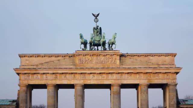 CU Shot of Brandenburg Gate at Pariser Platz / Berlin, Germany