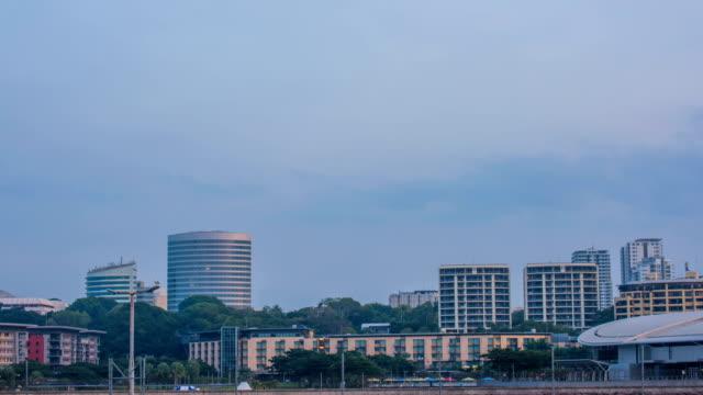 Shot of buildings at Darwin Port in Australia