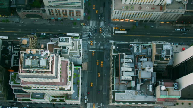'WS AERIAL ZO Shot of buildings / New York City, United States'