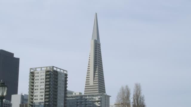 stockvideo's en b-roll-footage met ms shot of buildings top / san francisco, california, united states - kerktoren