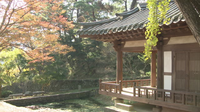 stockvideo's en b-roll-footage met shot of buyongdang gazebo near singnyeongjeong gazebo - gazebo