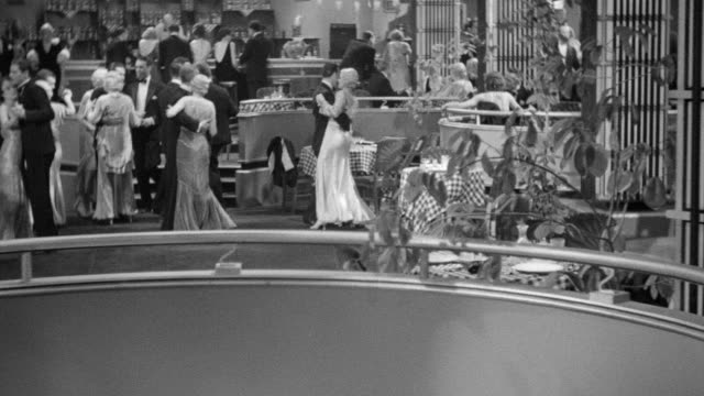 MS Shot of cabaret dancing of people