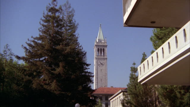 WS ZI Shot of Campanile library and chemistry building