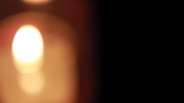 ECU Shot of candle lights defocus / Nerima, Tokyo, Japan