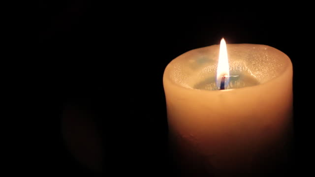 cu shot of candle / nerima, tokyo, japan - candlelight stock videos and b-roll footage