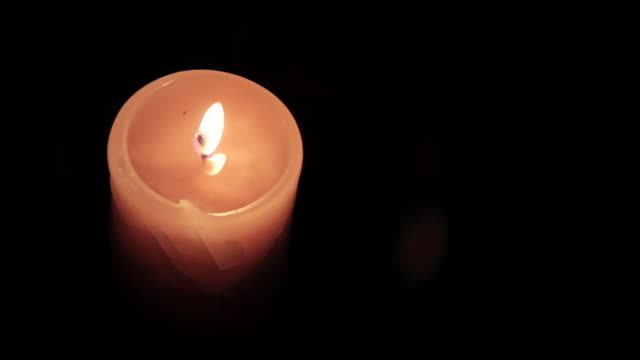 cu shot of candle / nerima, tokyo, japan - candlelight stock videos & royalty-free footage