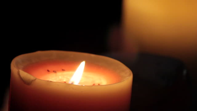 cu shot of candles / nerima, tokyo, japan - candlelight stock videos & royalty-free footage