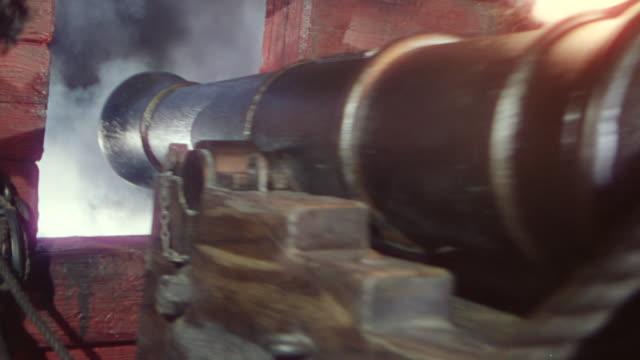 CU PAN Shot of cannon fire