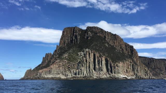 4K shot of Cape Pillar panning to reveal Tasman Island, Tasmania