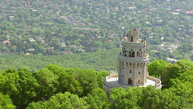 ws aerial zi shot of castle / budapest, hungary - hungary stock videos & royalty-free footage