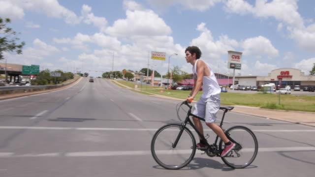 MS TS Shot of Casual bike riders / Austin, Texas, United States