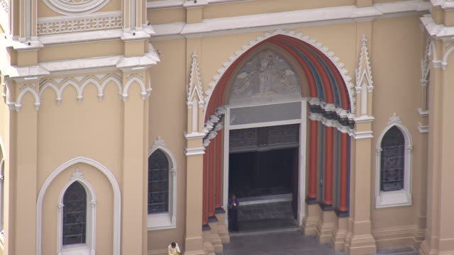 CU AERIAL Shot of Cathedral Metropolitana / Parana, Brazil