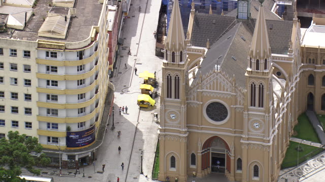 MS AERIAL Shot of Cathedral Metropolitana / Parana, Brazil