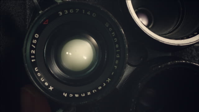 Shot of Changing Lense of film camera