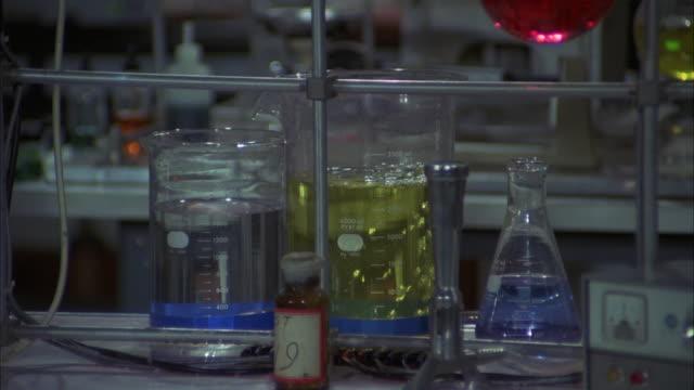 cu shot of chemical laboratory - chemie stock-videos und b-roll-filmmaterial