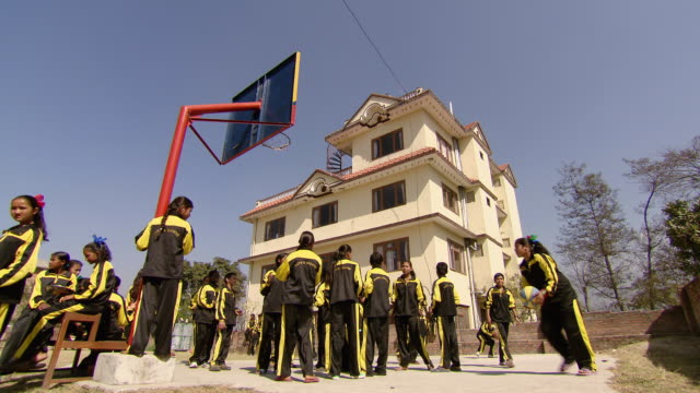 shot of children's playing of papa's house / kathmandu nepal - waisenhaus stock-videos und b-roll-filmmaterial