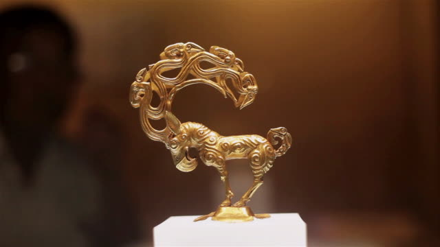 cu shot of chinese cultural relics / xian, shaanxi, china - 古代の遺物点の映像素材/bロール
