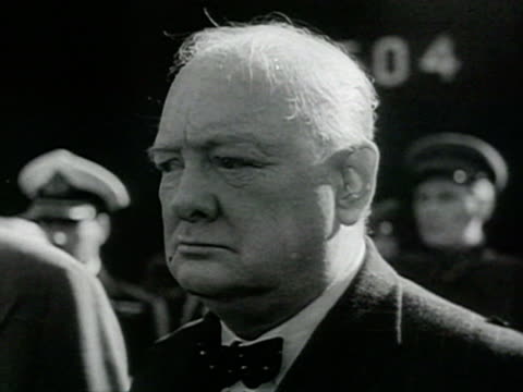 cu shot of churchill's visit and reviews guard of honour at moscow aerodrome audio / stalingrad russia - volgograd stock videos & royalty-free footage