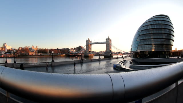 ms shot of city hall / london, great britain   - town hall stock videos & royalty-free footage